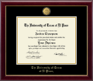 University of Texas at El Paso Diploma Frame - 23K Medallion Diploma Frame in Gallery