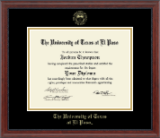 University of Texas at El Paso Diploma Frame - Gold Embossed Diploma Frame in Signature