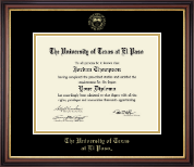 University of Texas at El Paso Diploma Frame - Gold Embossed Diploma Frame in Regency Gold