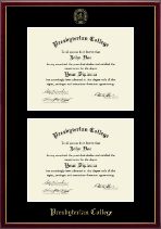 Presbyterian College Diploma Frame - Double Document Diploma Frame in Galleria