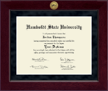 Humboldt State University  Diploma Frame - Millennium Gold Engraved Diploma Frame in Cordova