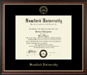 Samford University Diploma Frame - Gold Embossed Diploma Frame in Studio Gold