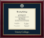 Trinity College Diploma Frame - Masterpiece Medallion Diploma Frame in Gallery