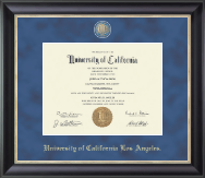 University of California Los Angeles Diploma Frame - Masterpiece Medallion Diploma Frame in Noir