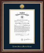 United States Naval Academy Certificate Frame - Gold Engraved Medallion Certificate Frame in Hampshire