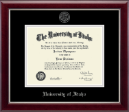 University of Idaho Diploma Frame - Silver Embossed Diploma Frame in Gallery Silver