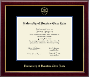 University of Houston-Clear Lake Diploma Frame - Gold Embossed Diploma Frame in Gallery