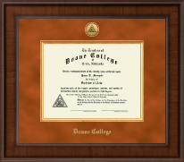 Doane College Diploma Frame - Presidential Gold Engraved Diploma Frame in Madison