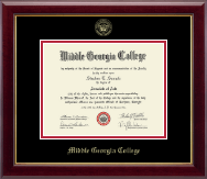 Middle Georgia College Diploma Frame - Gold Embossed Diploma Frame in Gallery