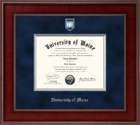 The University of Maine Orono Diploma Frame - Presidential Pewter Masterpiece Diploma Frame in Jefferson
