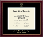 Santa Clara University Diploma Frame - Gold Embossed Diploma Frame in Gallery