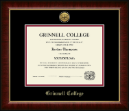 Grinnell College Diploma Frame - Gold Engraved Medallion Diploma Frame in Murano