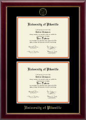 University of Pikeville Diploma Frame - Double Document Diploma Frame in Gallery