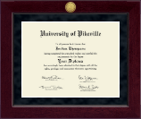 University of Pikeville Diploma Frame - Millennium Gold Engraved Diploma Frame in Cordova