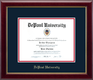 DePaul University Diploma Frame - Gold Embossed Diploma Frame in Gallery