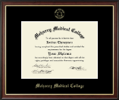 Meharry Medical College Diploma Frame - Gold Embossed Diploma Frame in Studio Gold