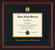 Thomas Jefferson University Diploma Frame - Presidential Gold Engraved Logo Diploma Frame in Premier