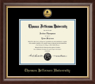 Thomas Jefferson University Diploma Frame - Gold Engraved Logo Medallion Diploma Frame in Hampshire