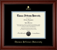 Thomas Jefferson University Diploma Frame - Gold  Embossed Logo Diploma Frame in Cambridge