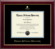 Thomas Jefferson University Diploma Frame - Gold Embossed Logo Diploma Frame in Gallery