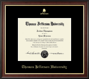Thomas Jefferson University Diploma Frame - Gold Embossed Logo Diploma Frame in Studio Gold