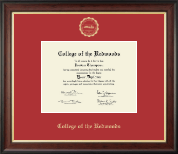 College of the Redwoods Diploma Frame - Gold Embossed Diploma Frame in Studio Gold