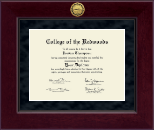 College of the Redwoods Diploma Frame - Millennium Gold Engraved Diploma Frame in Cordova