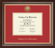 College of the Redwoods Diploma Frame - Gold Engraved Medallion Diploma Frame in Hampshire