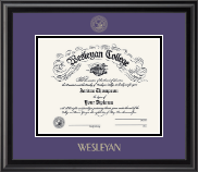 Wesleyan College Georgia Diploma Frame - Gold Embossed Diploma Frame in Midnight
