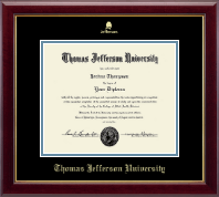 Thomas Jefferson University Certificate Frame - Gold Embossed Certifiate Frame in Gallery
