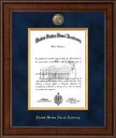 United States Naval Academy Diploma Frame - Presidential Masterpiece Diploma Frame in Madison