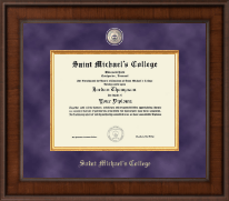 Saint Michael's College Diploma Frame - Presidential Masterpiece Diploma Frame in Madison