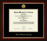 Saint Michael's College Diploma Frame - Gold Engraved Medallion Diploma Frame in Murano