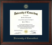 University of Connecticut Diploma Frame - Gold Embossed Diploma Frame in Studio