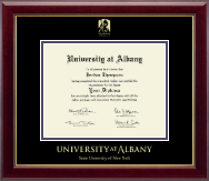 State University of New York  Albany Diploma Frame - Gold Embossed Diploma Frame in Gallery