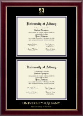 State University of New York  Albany Diploma Frame - Double Document Diploma Frame in Gallery