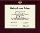 Goldey-Beacom College Diploma Frame - Century Gold Engraved Diploma Frame in Cordova