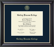 Goldey-Beacom College Diploma Frame - Gold Embossed Diploma Frame in Noir