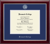 Broward College Diploma Frame - Masterpiece Medallion Diploma Frame in Gallery Silver