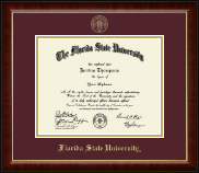 Florida State University Diploma Frame - Gold Embossed Diploma Frame in Murano