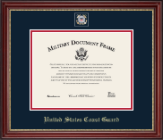 United States Coast Guard Certificate Frame - Masterpiece Medallion Certificate Frame in Kensington Gold