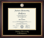 Auburn University Montgomery Diploma Frame - Masterpiece Medallion Diploma Frame in Regency Gold
