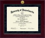 University of Massachusetts Dartmouth Diploma Frame - Millennium Gold Engraved Diploma Frame in Cordova