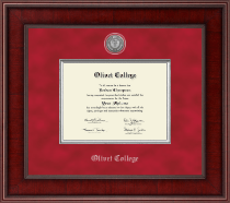 Olivet College Diploma Frame - Presidential Silver Engraved Diploma Frame in Jefferson