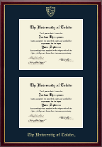 The University of Toledo Diploma Frame - Double Diploma Frame in Galleria