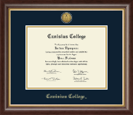 Canisius College Diploma Frame - Gold Engraved Medallion Diploma Frame in Hampshire