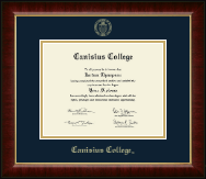 Canisius College Diploma Frame - Gold Embossed Diploma Frame in Murano