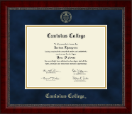 Canisius College Diploma Frame - Gold Embossed Diploma Frame in Sutton