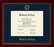 Bethany College in Kansas Diploma Frame - Gold Embossed Diploma Frame in Sutton
