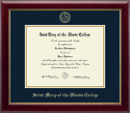 Saint Mary-of-the-Woods College Diploma Frame - Gold Embossed Diploma Frame in Gallery